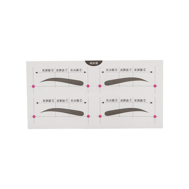 eyebrow tracing card eyebrow makeup tool eyebrow card aid tool thrush 1