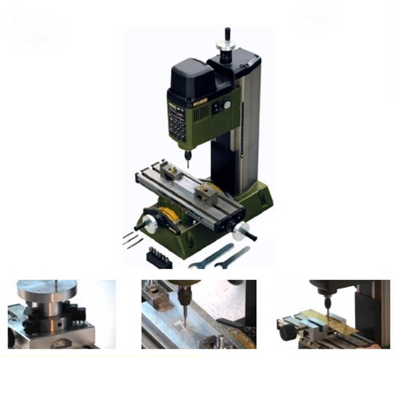 220V 100W minifrezarka MF70 ławka wiertarka Mini tokarka to prac W drewnie maszyna do laboratorium urządzenie optyczne przetwarzania