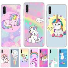 Cute Unicorn Cartoon Coque Shell Phone Case For samsung galaxy A3 A5 A7 A10 A20 E A30 S A40 A50 A70 A71 A80 2017 2018(China)