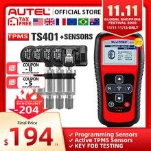 Autel herramienta TPMS MX Sensor, 433MHZ, 315MHZ, Reparación de neumáticos de coche, Sensor de presión de neumáticos, programa por MaxiTPMS PAD TS401 TS601 MK808 TS