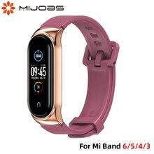 ซิลิโคนสายรัดสำหรับ Mi 6 5สายรัดข้อมือสำหรับ Mi Band 5สายสำหรับ Xiaomi Mi 4 3สาย Correa สำหรับ Mi Bend 6