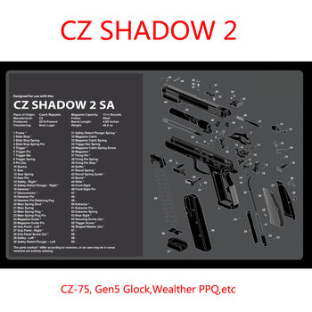 CZ shadow 2 airsoft Gun Cleaning Rubber Mat with Instructions Armourist Bench Mat for CZ 75 gen5 Glcok Walther PPQ SIG RUGER M&P цена 2017
