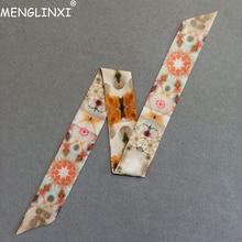 Luxury Brand Silk Scarf 2019 New Design Constellation Women Bag Hair Skinny Wrist Towel Foulard Femme Tie