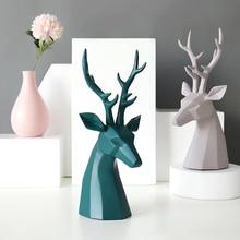 Deer Figurine resin Home Decoration Accessories for Tabletop decor office home Garden desk decoration living room