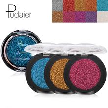 DHL Wholesale Pudaier Single Color Waterproof Eyeshadow Cosmetics Long Lasting Shimmer Glitter Powder Eye Shadow Makeup недорого