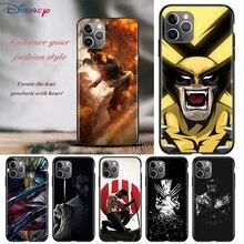 Wolverine x men dla Apple iPhone 12 11 Pro Max mini XS Max XR X 8 7 6 6S Plus 5S SE 2020 miękki czarny futerał na telefon