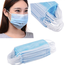 High Quality Disposable Surgical Masks 50pcs Masque Pollution Mask For Mouth Mond Masker In Stock Nasal Filter