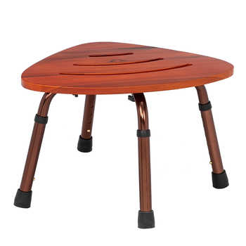 6-Hole Adjustable Wooden Bath Chair Natural Wood Color Medical Bath Tub Shower Chair Bench Stool Seat Older Pregnancy Furniture