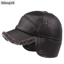 XdanqinX New Winter Men's Thick Velvet Baseball Caps Men Ear