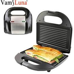 Electric Mini Sandwich Maker Grill Panini Non-Stick Pan Waffle Toaster Cake Bread Breakfast Machine Barbecue Steak Frying Oven