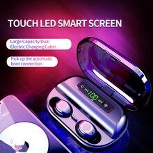 Orijinal V12 Bluetooth 5.0 kulaklık gerçek kablosuz kulaklıklar TWS kulak kulakiçi IPX7 su geçirmez kulaklık HiFi spor koşu