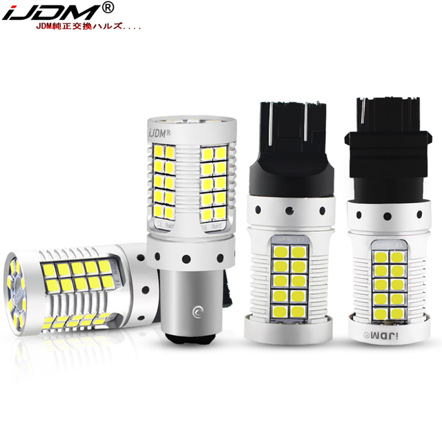JDM Car 7440 7443 LED No Hyper Flash 12V T20 W21/5W 1157 3157 3156 1156 BAU15S LED Bulbs For Turn Signal Lights Red Yellow White