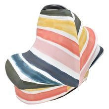 Baby Carseat Canopy Rainbow Breastfeeding Stretchy Privacy Nursing Dustproof Newborn Car Cover(China)