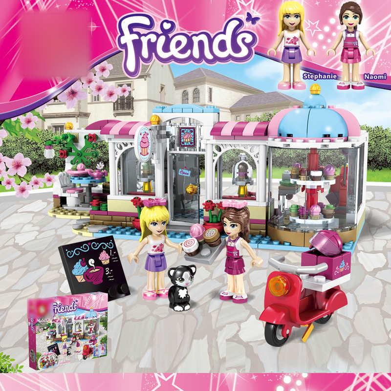 Freunde Heartlake Cupcake Cafe Bausteine Set Modell Bricks Mädchen Kinder Spielzeug 41119 Geschenke Freunde für Mädchen Kinder