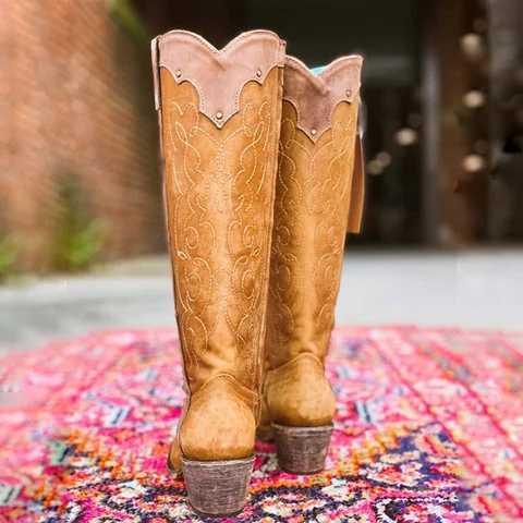 SHUJIN ใหม่ผู้หญิงฤดูใบไม้ร่วงฤดูหนาวสุภาพสตรีแบนรองเท้าด้านล่างรองเท้าเข่าต้นขายาวหนังนิ่มสีดำรองเท้า