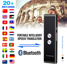 T8 Portable Smart 40Languages Real Time Voice Translator Bluetooth Two-way   Travel Meeting RussianTranslator Device Machine t8 portable smart voice translator two way real time multi language translation for learning travelling meeting t8 translator