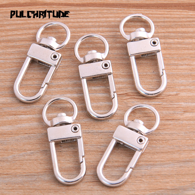 8pcs 13*34mm 2020 New Two Color Rhodium Plated Jewelry Findings,Lobster Clasp Hooks For Necklace&Bracelet Chain DIY 3