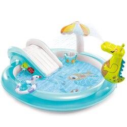 Водные горки для парка, надувной бассейн для семьи и детей, крокодиловый бассейн с распылителем воды, детский бассейн с шариками