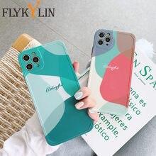 Funda de teléfono con diseño geométrico para iPhone, funda protectora de silicona IMD con diseño artístico para móviles iPhone 11 Por Max X XS Max XR 7 8 Puls SE 2020