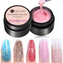 Ur açúcar 7.5/15/30ml gel de extensão unhas francesas brilho cor construtor uv gel unha polonês dedo dicas design