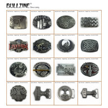 Bullzine Zinc Alloy Mjolnir THORSHAMMER VIKING JUDAS Skull Belt Buckle Welder Wolf CARPENTER MECHANIC Celtic Fishing Belt Buckle