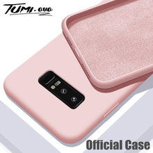 Rubber Case for Samsung Galaxy S10 S9 S8 Plus S7 Edge S10E Original Liquid Silicone Candy Cover for A10 A20 A30 A40 A50 A60 A70(China)
