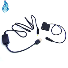 DMW DCC15 Coupler DMW BLH7 Battery + USB Cable Adapter Fits Power Bank DC 5V 2A for Panasonic Lumix DMC GM1 GM5 GF7Cameras