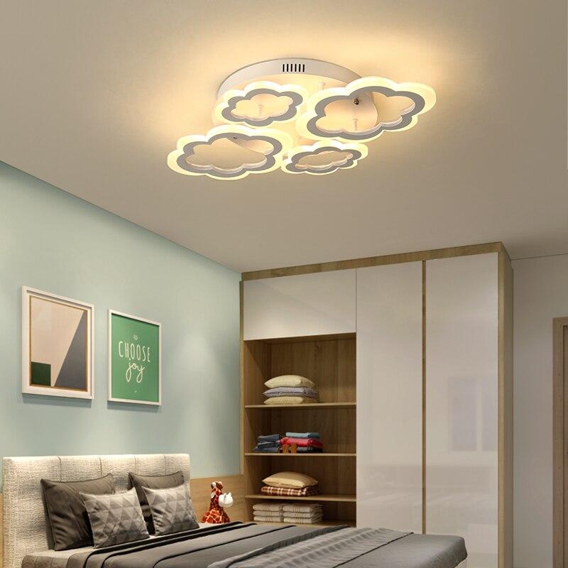 Image 4 - Horsten White Clouds High Power LED Ceiling Chandelier For Living Room Bedroom Home Modern Led Chandelier Lamp Fixture-in Chandeliers from Lights & Lighting