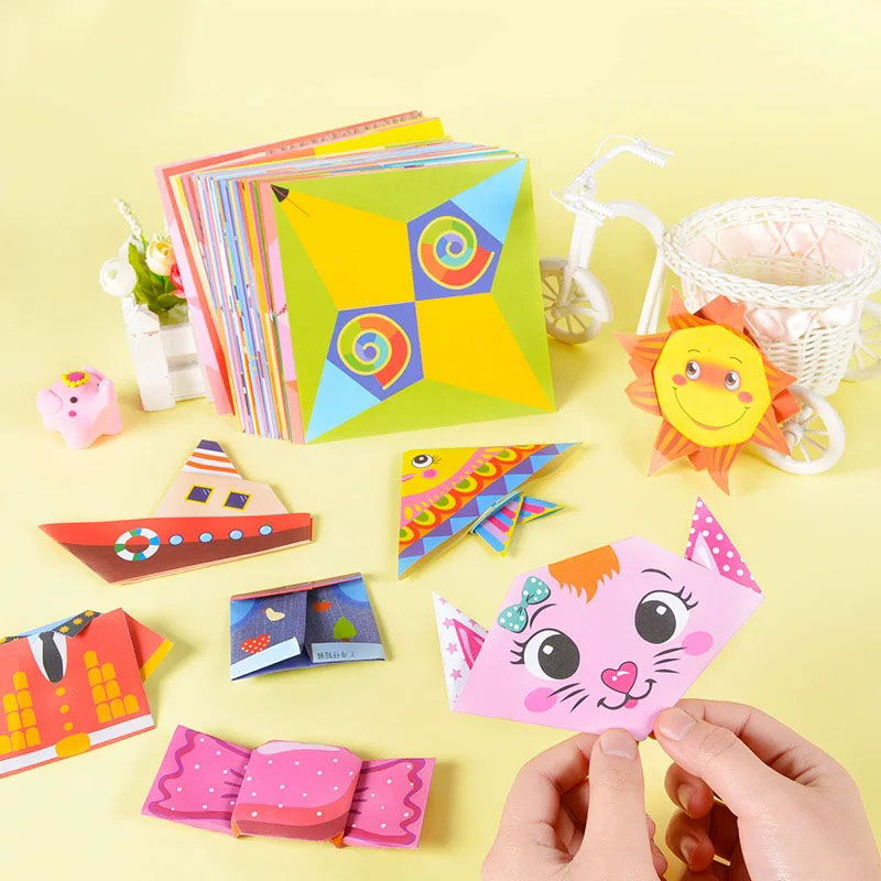 Square Origami Paper Double Sides Color Blossom Folding Colorful Color Papers Kids Handmade DIY Arts And Crafts For Kids Toys