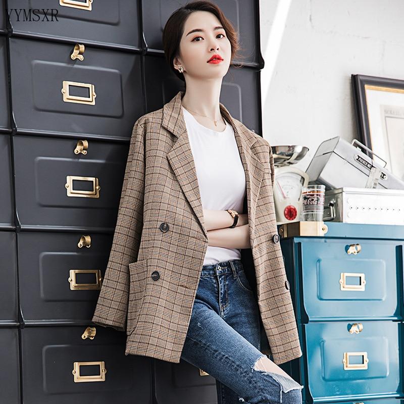 High quality women's suit feminine jacket coat 2020 new casual elegant large size S-4XL loose ladies blazer top