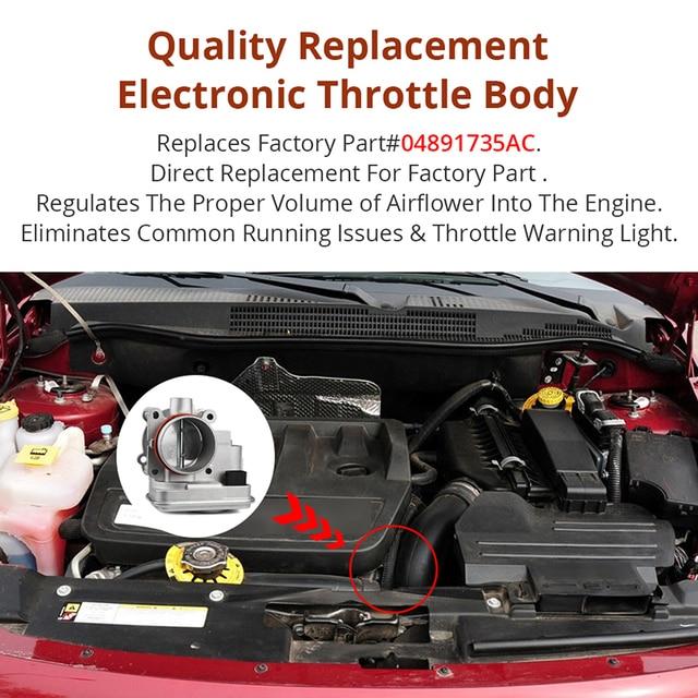 Electronic Throttle Body For Dodge Avenger Caliber Journey Chrysler 200 Sebring Jeep Compass Patriot Replace 04891735AC 3