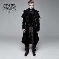 Devil Fashion Men's Victorian Gentleman Style Dress Coats Gothic Vintage Stage Banquet Long Jacket