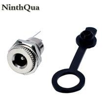 NinthQua-conector de montura hembra de 5/10mm x 5,5mm y 2,1mm, toma de corriente CC de 1/2/2,5 Uds., Conector de montura de Panel de Metal 5,5x2,1 5,5x2,5