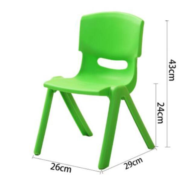 24cm Seat height Safety Thicken Kindergarten chair small stool back-rest chair for 1-2 years kids