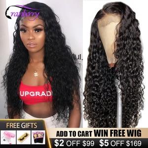 Клюквы волосы глубокая волна 4x4 закрытие парик человеческих волос парики для Для женщин предварительно вырезанные доступная лента для воло...
