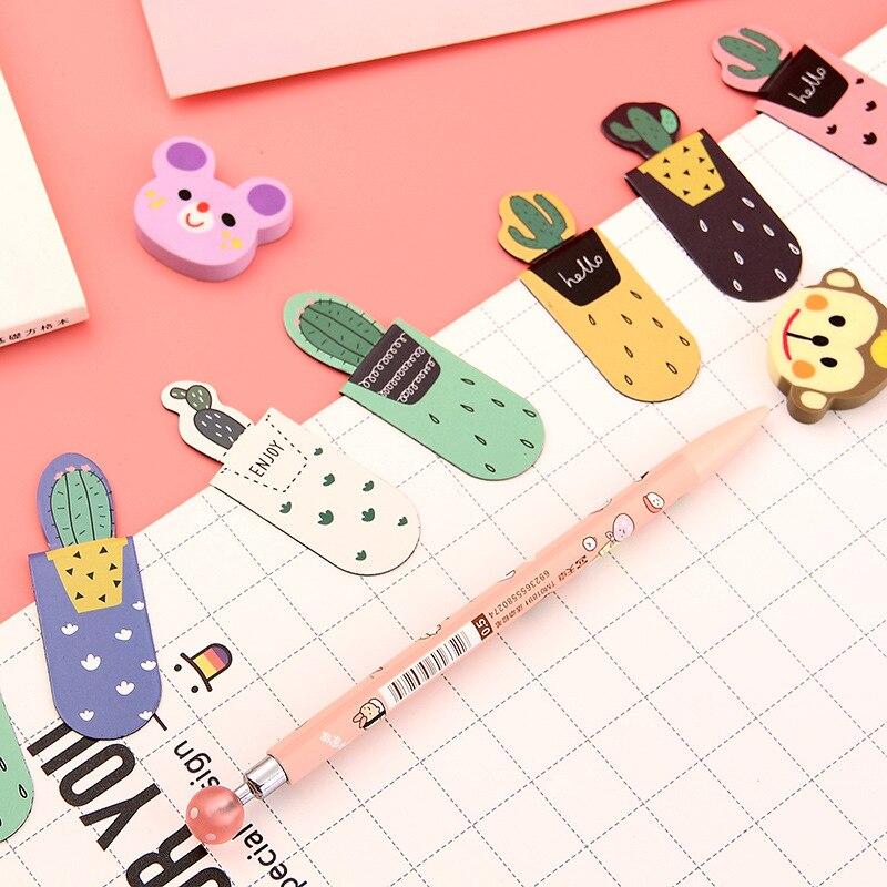 3 шт. Kwaii Корейская версия креативной закладки Магнитная папка для книг детский подарок студенческие канцелярские принадлежности