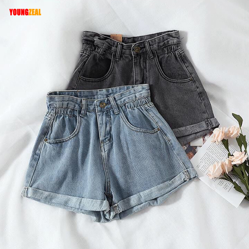 Women Classic Vintage High Waist Crimping Denim Shorts 2020 Korean Style Casual Shorts Jeans Summer Hot Sale Short Pants Bottom
