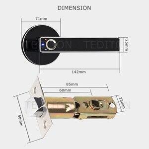 Image 5 - Biometrische Schloss Semiconductor Fingerprint Lock Smart Türschloss Automatische Sicherheit Tür Elektronische Schloss Für Home Office