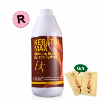 1000ml DS Max Brazilian Keratin Treatment at home 12% Formalin Straightening Resistant Hair at Home недорого