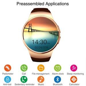 Image 2 - Kaimorui KW18 Bluetooth Smart Horloge Sim kaart Hartslag Tf Card Mannen Sport Horloge Telefoon Smartwatch Voor Xiaomi Huawei Ios telefoon