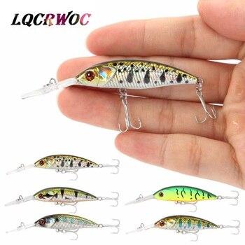 цена на NEW Minnow 5g 5cm bass deep diving fishing lure small ice fish swimbait whopper plopper crankbait trout lure pesca japan tackle
