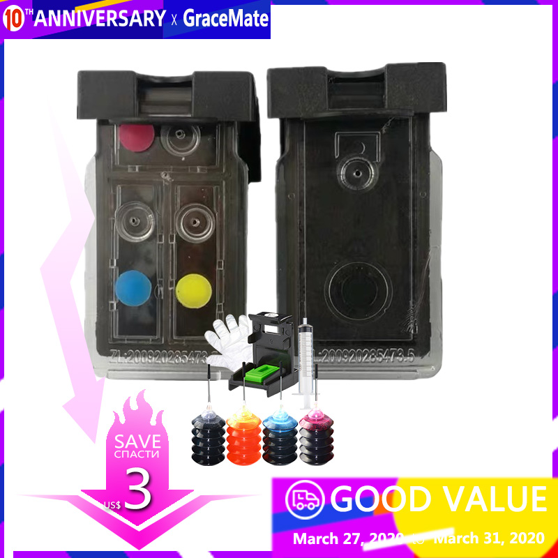 Refill More Than 25 Time , Refillable Ink Cartridge PG 445 CL 446 For Canon Pixma IP2840 MX494 MG2440 MG2540 MG2940 Printer 2540