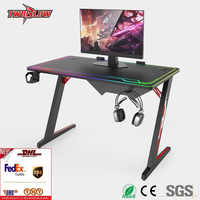 FedEx shipping free Luxury E sports computer table notebook desktop computer special table RGB light cool game table home desk