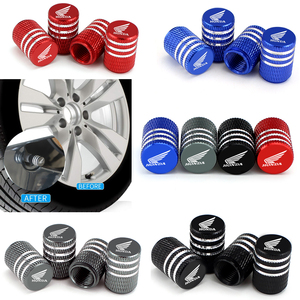 Image 2 - 4PCS Alloy Covers for Honda Civic Accord Fit Jazz CRV HRV Crosstour City Odyssey Insight Pilot Car Wheel Tire Valve Caps Styling