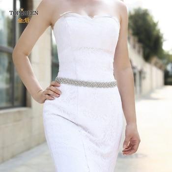 TOPQUEEN S216 Women's Rhinestones Handmade Belt Wedding  Belt Accessories Marriage Bridal Sashes wedding bridal sashs Any Size 1