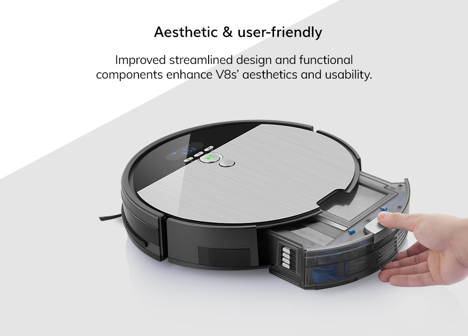 H3c5dafcdb5464f58a582373d5d87b3eeO ILIFE V8s Robot Vacuum Cleaner Sweep&Wet Mop Navigation Planned Cleaning large Dustbin large Water Tank Schedule disinfection
