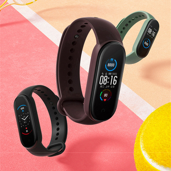 NEW Fashion Sport man smart Watch Band for Xiaomi Mi Band 5 strap smart Bracelet Silicone Wrist Strap Mi band 5 global ver image
