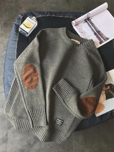 Fashion Sweater Pullover V-Neck Long-Sleeve Warm Male Autumn Men Casual Spring for Solid