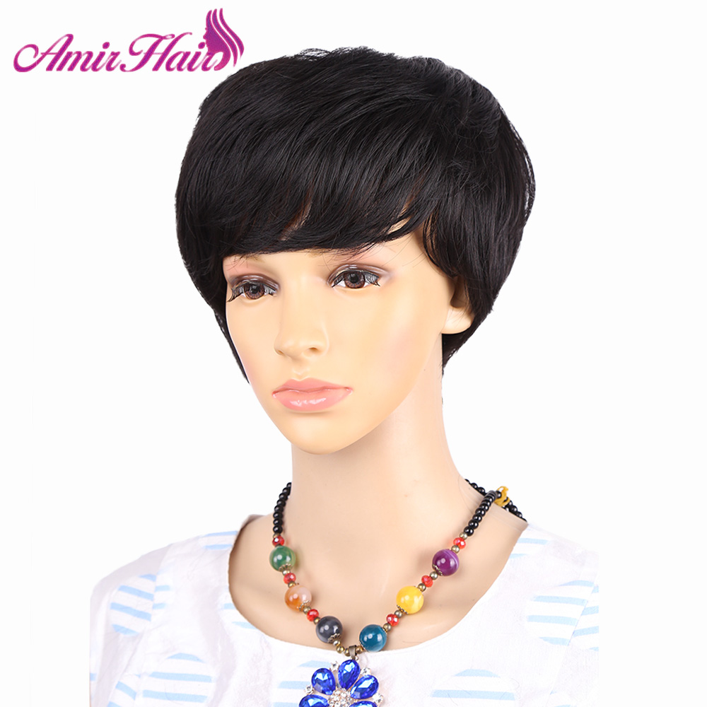 US $11.09 24% OFF|Amir synthetic short wigs