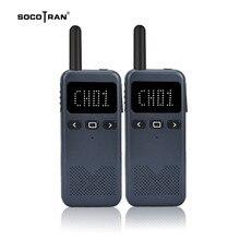 Socotran High Power Walkie talkie Slim Intercom Outdoor Handheld Mini Walkie Talkies Screen display Two way radio 2PCS high power walkie talkie small civil 50 km mini outdoor handset site walkie talkie